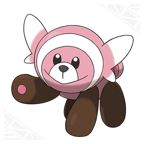 Stuffel the pre evolution of Bewear. Normal/Fighting type with Fluffy/Klutz.Pokémon Sun and Pokémon Moon   Pokemon.com/SunMoon