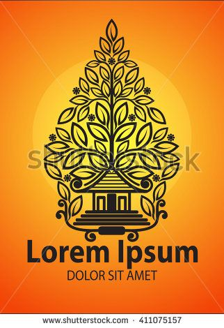 Vector Modification of Gunungan or Tree of life - stock vector