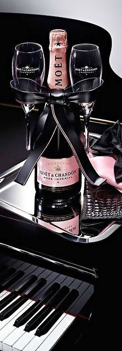 Moet Rosé Champagne, Music, Diamonds & A Fabulous LBD - Just The Necessities For A Classy Chic Lifestyle!