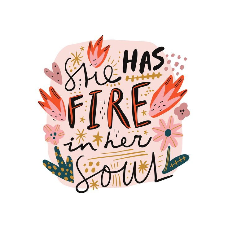 Modern Minimalisthome Design: She Has Fire In Her Soul Ornate Modern Doodle Lettering