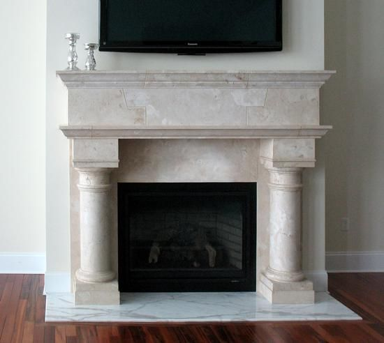 The Club- The Club fireplace mantel features extra large legs and lintel  for and oversized - 18 Best Fireplace Mantels Images On Pinterest