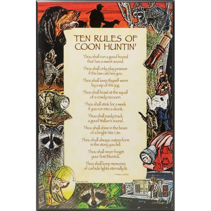 Ten commandments of coon hunting