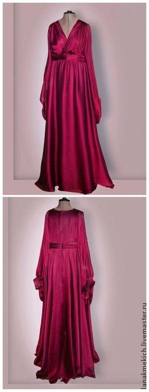 """Вечернее платье для беременной """"ТЮЛЬПАН"""" - бордовый,однотонный,платье для беременной"""