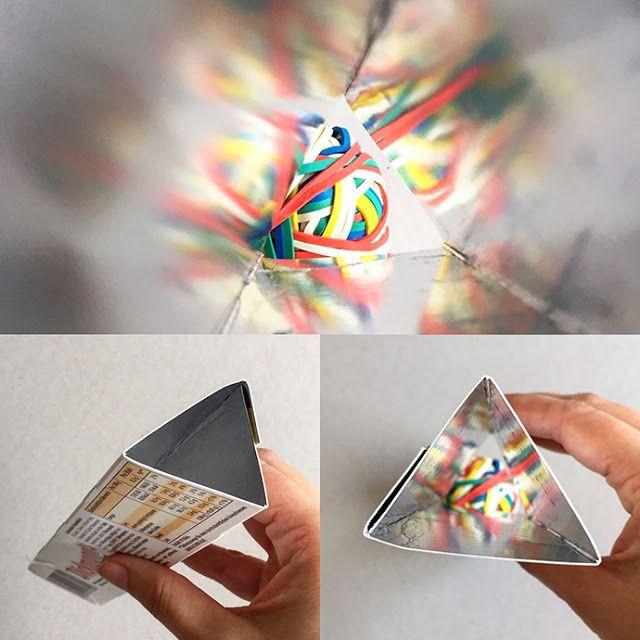 Recycling - ein einfaches Kaleidoskop basteln
