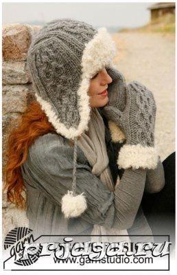 Зимняя шапка спицами
