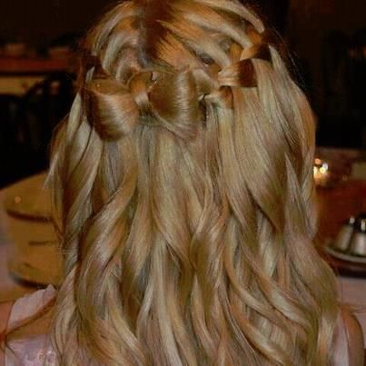 waterfall into hairbow