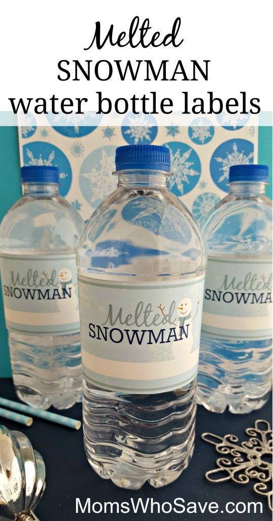 Easy DIY — Free Printable Melted Snowman Water Bottle Labels | MomsWhoSave.com