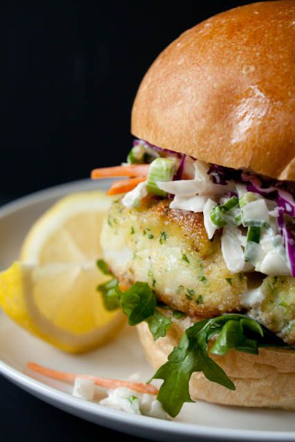 Lighter Fried Fish Sandwich...with Creamy Coleslaw.   canyoustayfordinner.