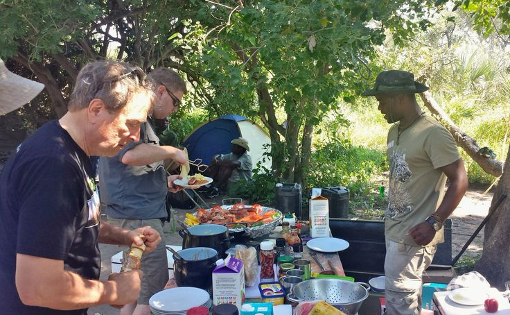 The mother of all brunches greeted us after our early morning guided walk in the Okavango Delta. Fab cooking by Tony from Sunway Safaris #botswanasafari2015