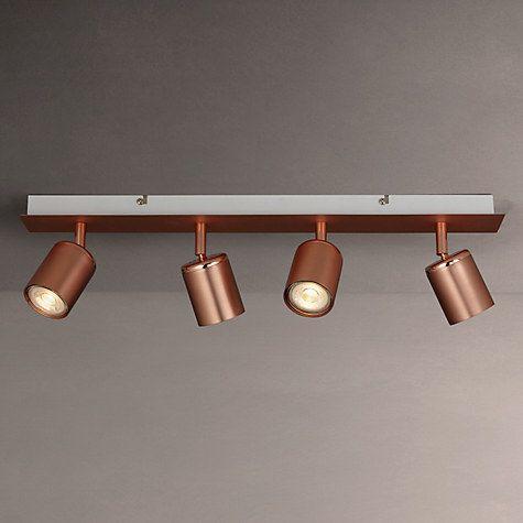 kitchen ceiling spot lighting. buy john lewis mode led spotlight bar 4 light copper from our ceiling lighting range at kitchen spot l