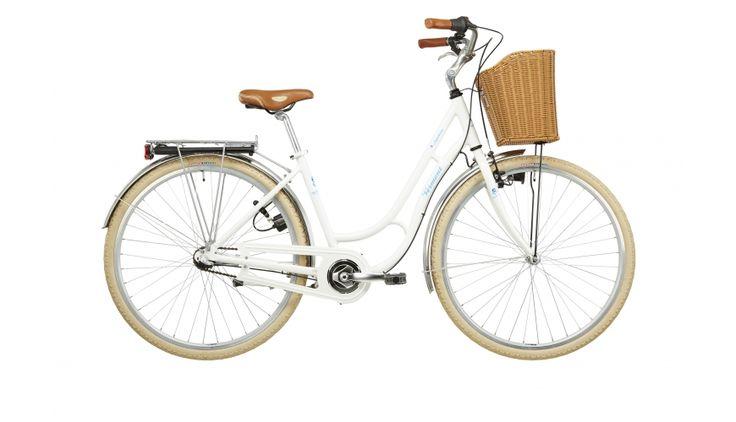 Vermont Saphire - Vélo de ville Femme - 3 plateaux blanc