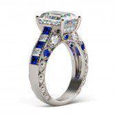 Jeulia Lilac Flower Round Cut Created Amethyst Engagement Ring - Jeulia Jewelry