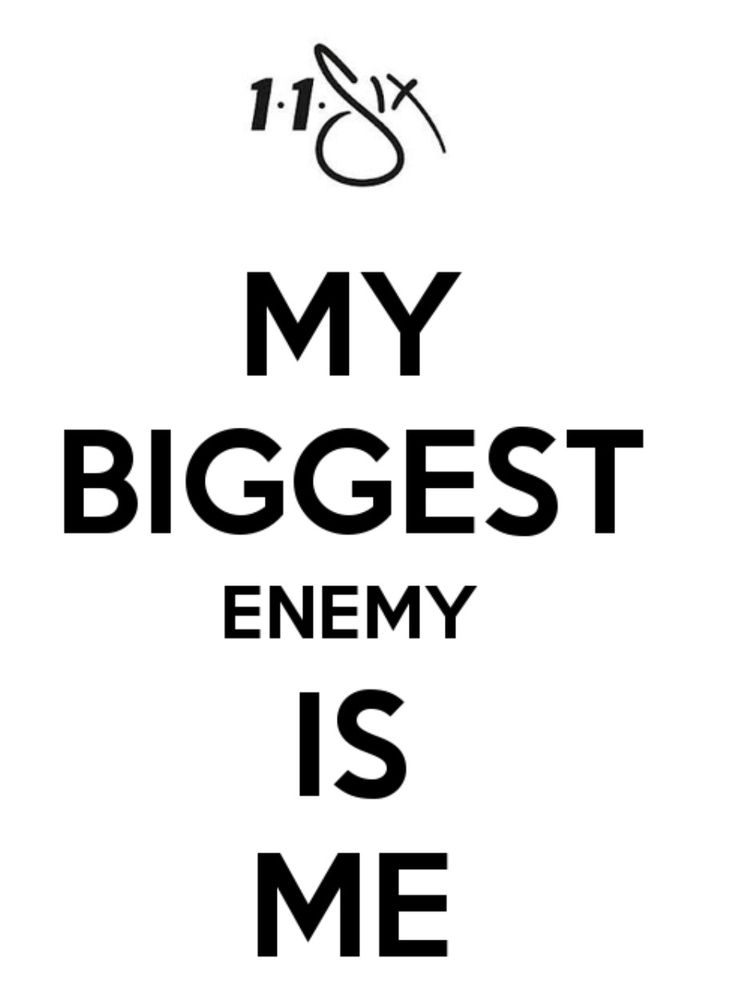 My biggest enemy is me...and even I can't stop me! - Andy Mineo