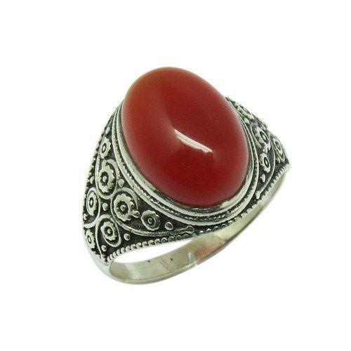 Designer Silver Ring Carnelian Gemstone Silver RingARCB1395-1 #Handmade