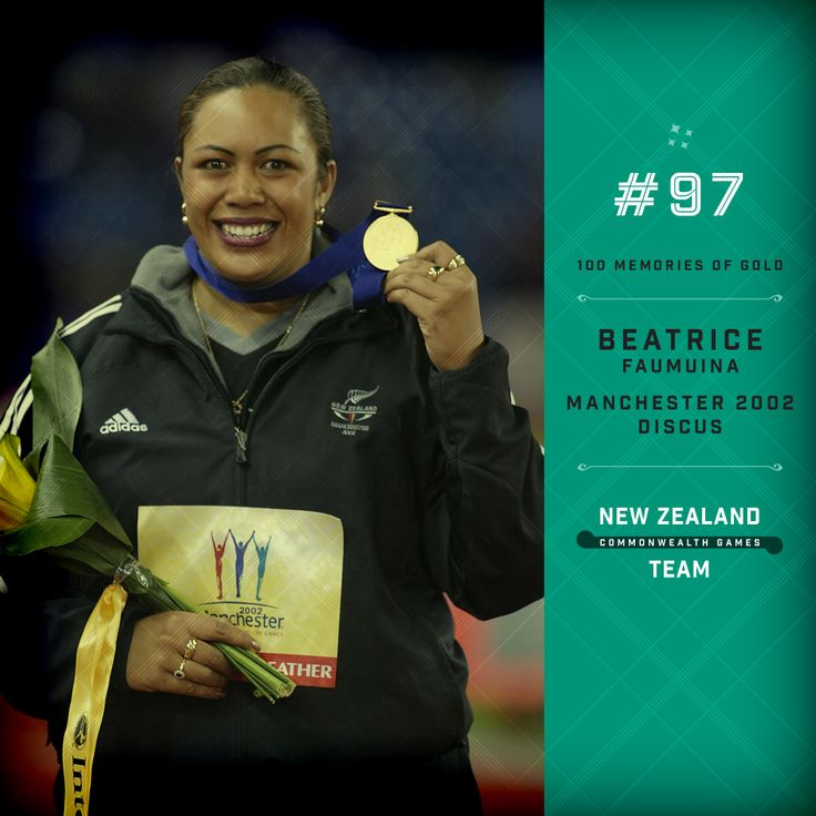 Golden memory #97. Beatrice Faumuina winning gold at the 2002 Commonwealth Games in Manchester. Well done Beatrice!  #makingusproud