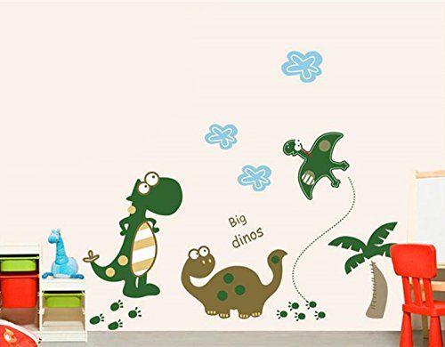 """Big Dinos!"" Dinosaur Premium Wall Stickers - Removable and Repositionable for Boys / Kids Bedroom Walls from DecoBay Dinosaurs @ Wall Stickers Warehouse http://www.amazon.co.uk/dp/B0075TXLPA/ref=cm_sw_r_pi_dp_MND3ub1DFDWQB"
