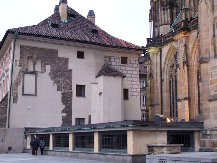 Remains of romanesque rotunda in Prague, Czech Republic