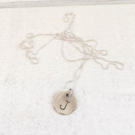 Sterling Silver Initial Necklace w/Box Chain - click to get yours right now!