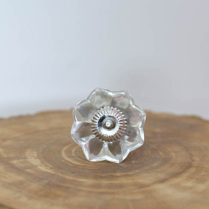 Clear Melon Glass Cabinet Knob