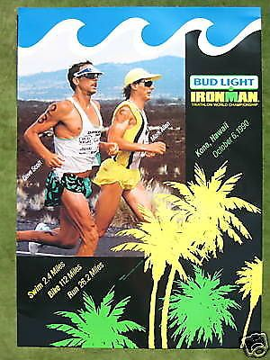 Ironman 1990 triathlon hawaii #poster - #kailua kona marathon / #original in mint,  View more on the LINK: 	http://www.zeppy.io/product/gb/2/171722256761/