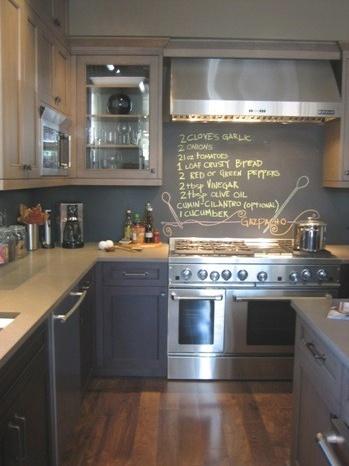 chalk wall to write recipes :)