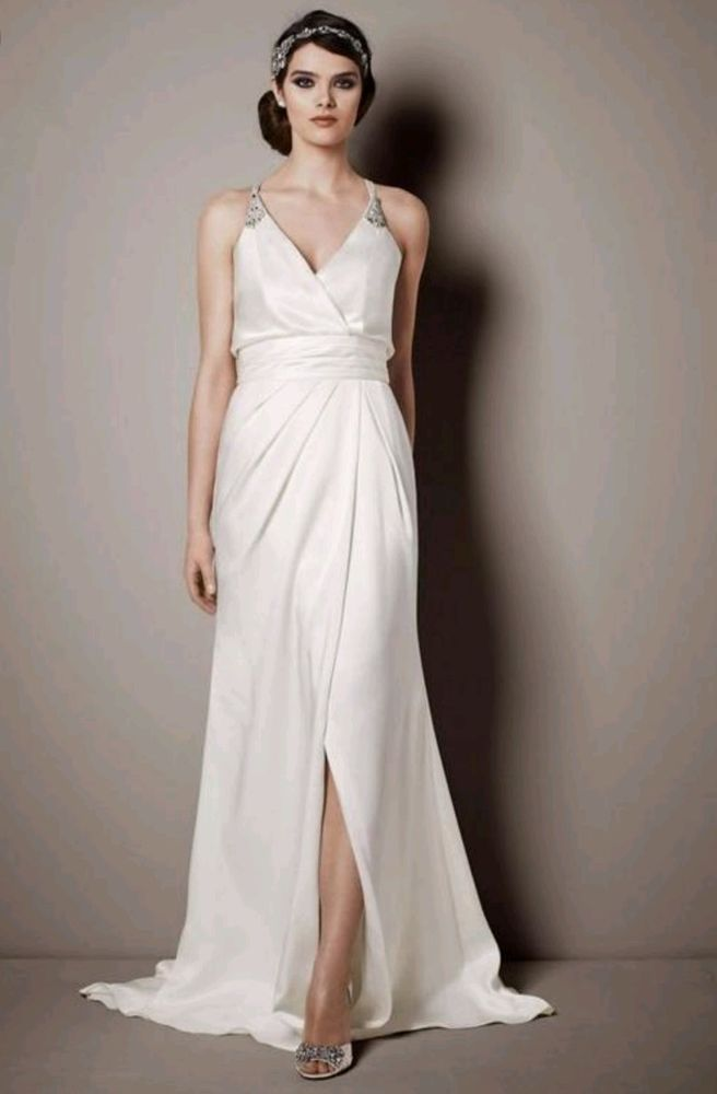 Galina Signature Wedding Gown SRL642, White Satin, Size 6 | Clothing, Shoes & Accessories, Wedding & Formal Occasion, Wedding Dresses | eBay!