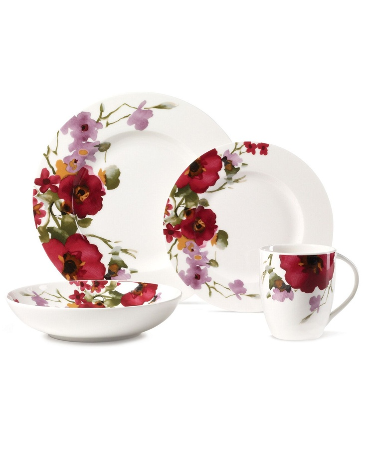 Mikasa Dinnerware, Garden Palette Bouquet Collection - Casual Dinnerware - Dining & Entertaining - Macy's