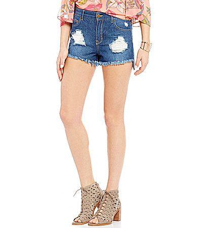 GB HighWaist Distressed Cutoff Jean Shorts #Dillards
