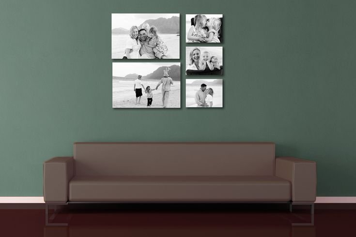 Three Picture Frames On The Wall