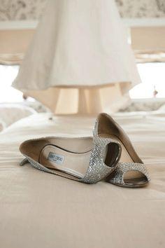 Sparkle Jimmy Choo #Wedding #Shoes.