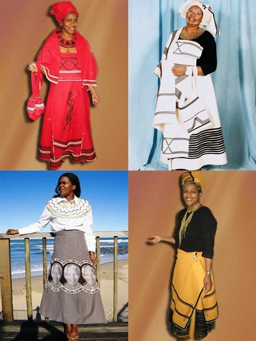 Xhosa lady in South African traditional clothing!
