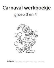 Carnaval werkboekjes met spelletjes