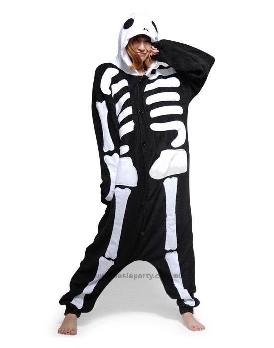 Adult Onesie - Skeleton - Kigurumi Costume - Free Delivery