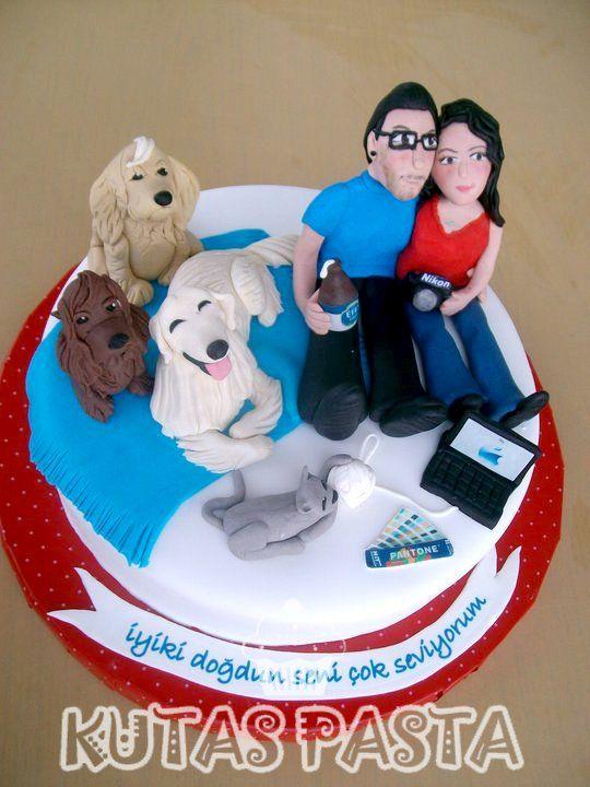 Sevgili Çift Pasta