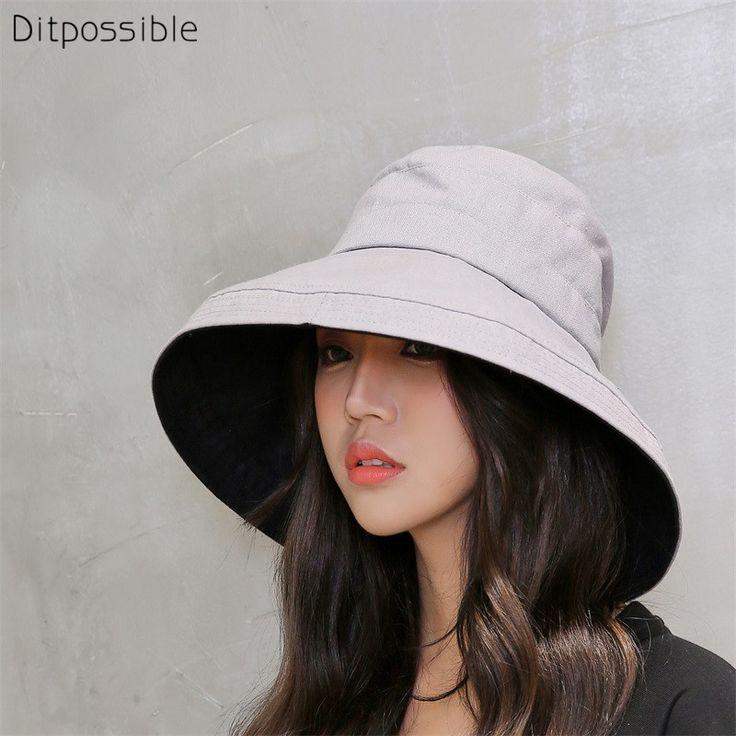 Купить товар Ditpossible Модные женские ведро шляпы с ...