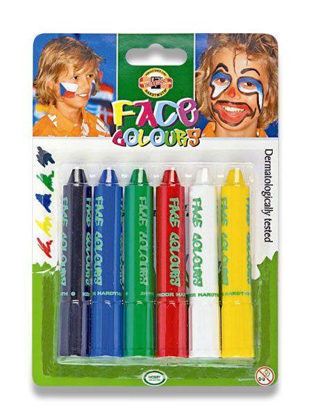 Barvy na obličej http://activacek.cz/produkt/barvy-na-oblicej-koh-i-noor-1430/