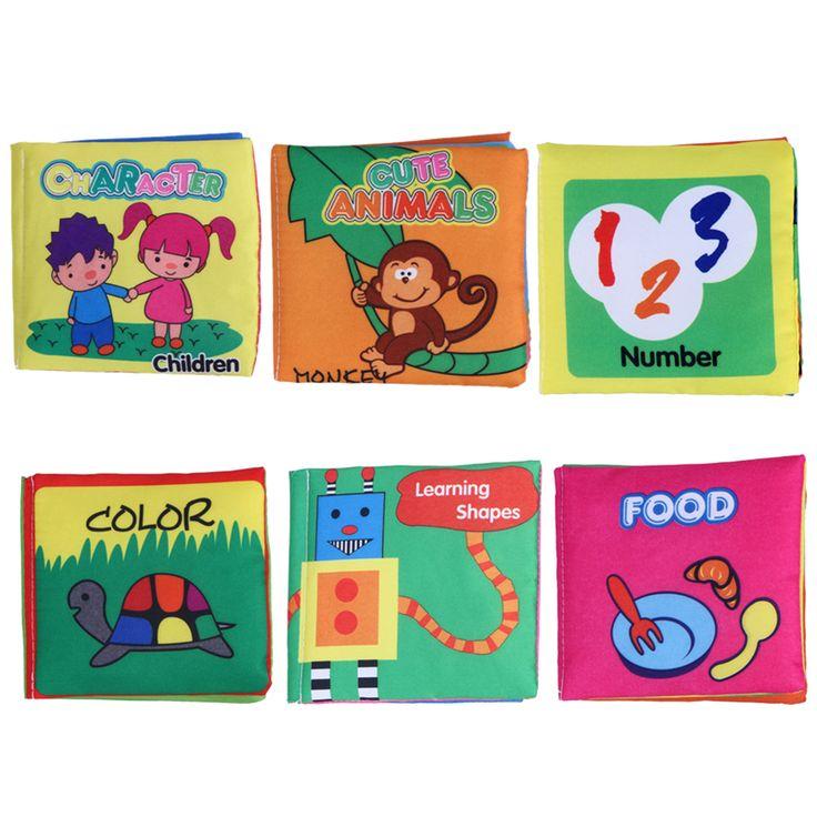 Baby toys libri panno morbido fruscio del suono infantile apprendimento precoce educativo passeggino giocattolo di crepitio del bambino appena nato presepe bed toys 0-36 mesi