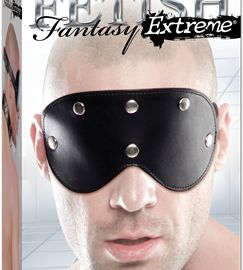 Take sensory play to the extreme with the Fetish Fantasy Extreme Black Heavy Duty Mask. This solid black eye mask is made from high-quality genuine leather with metal studs on the front eyeshade. The mask is held in place with a sturdy leather strap with metal eyelets and a metal buckle, and easily adjusts in the back to fit most sizes. It's perfect for beginners and fetish enthusiasts alike, made to play hard and sure to put your partner in a pleasurable state of darkness and anticipation!