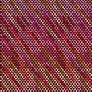Acacia Pixel Dot in Pomegranate