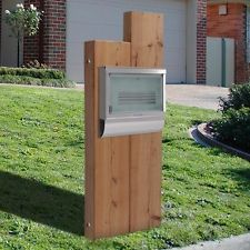 Milkcan Sleeper Timber Letterbox with WB56 Stainless Steel Glass Door Mailbox