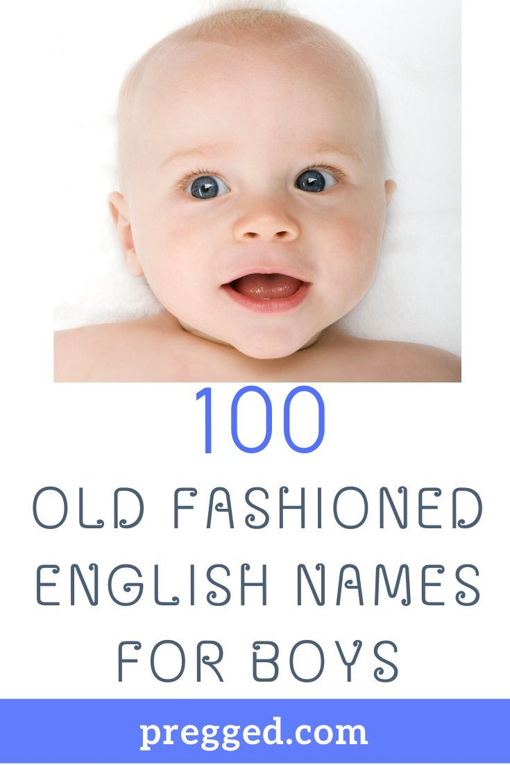 100 Old Fashioned English Names For Boys in 2020 | English boy names,  Christian baby boy names, Male baby names