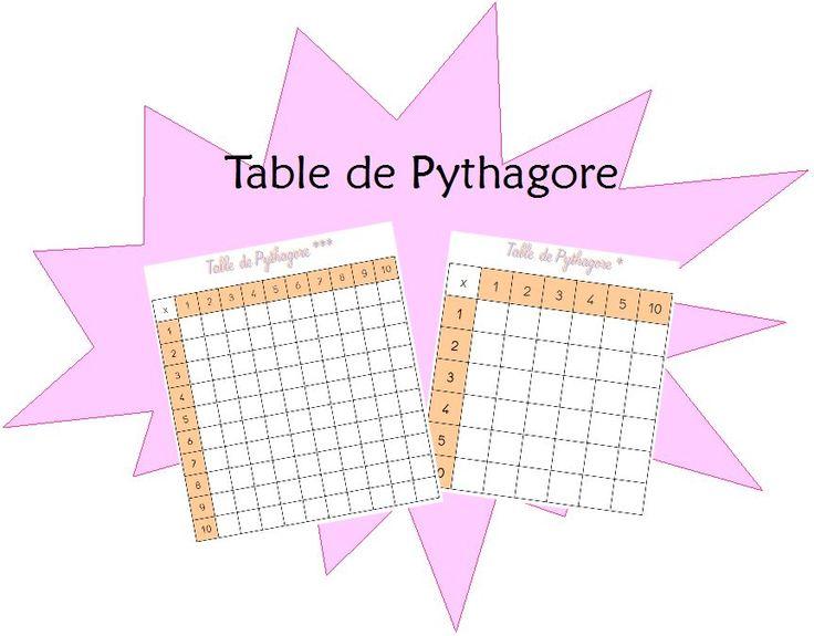 Tables de Pythagore pour travailler en ateliers et en autonomie | Mathématique | Pinterest ...