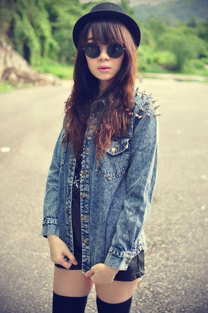 Tumblr Girl Hipster Hipster Girl Pinterest Bangs Tumblr girls and Shirts