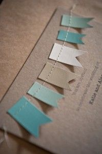 #banner #invitations #colors #kraft #recycled #sewing #diy