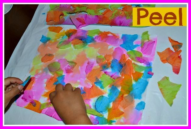 tissue paper art project