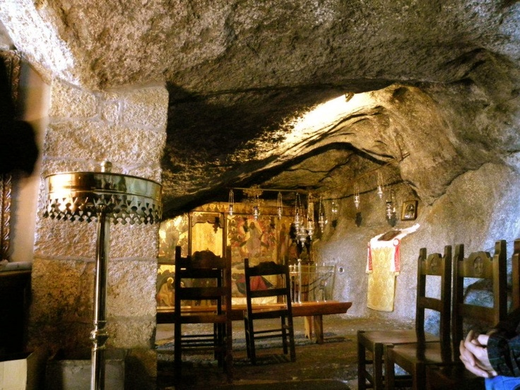 Cave on the island of Patmos, Greece where John wrote the book of Revelation.  I really want to visit this place, Lord willing!