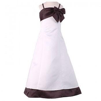 Sweet Kids Girls White Black Flower Girl Special Occasion Dress 4-16