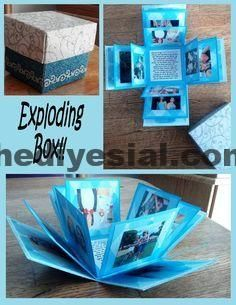 This is such a unique idea for a gift! Use red card, photos of the …