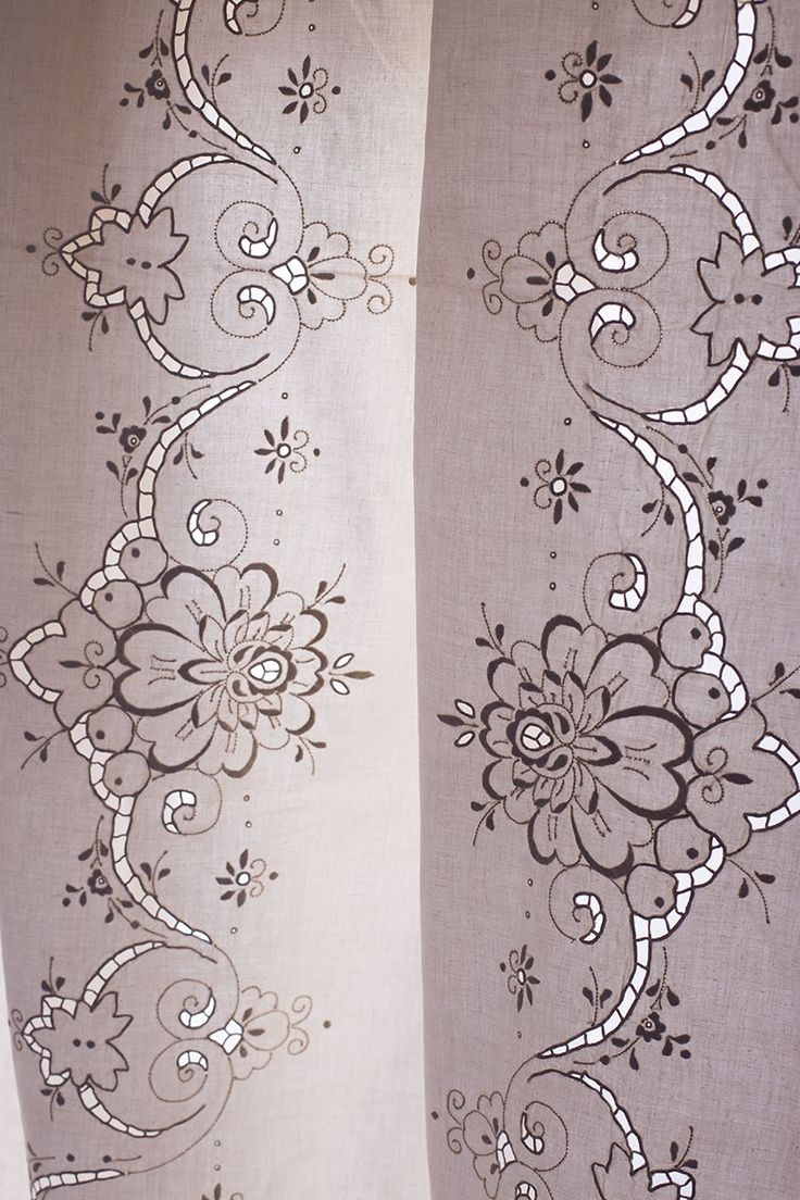 Outline embroidery designs for tablecloth - Vintage Hand Embroidery Linen Tablecloth