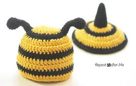 Repeat Crafter Me: Crochet Bumble Bee Hat and Tushie Cover Pattern